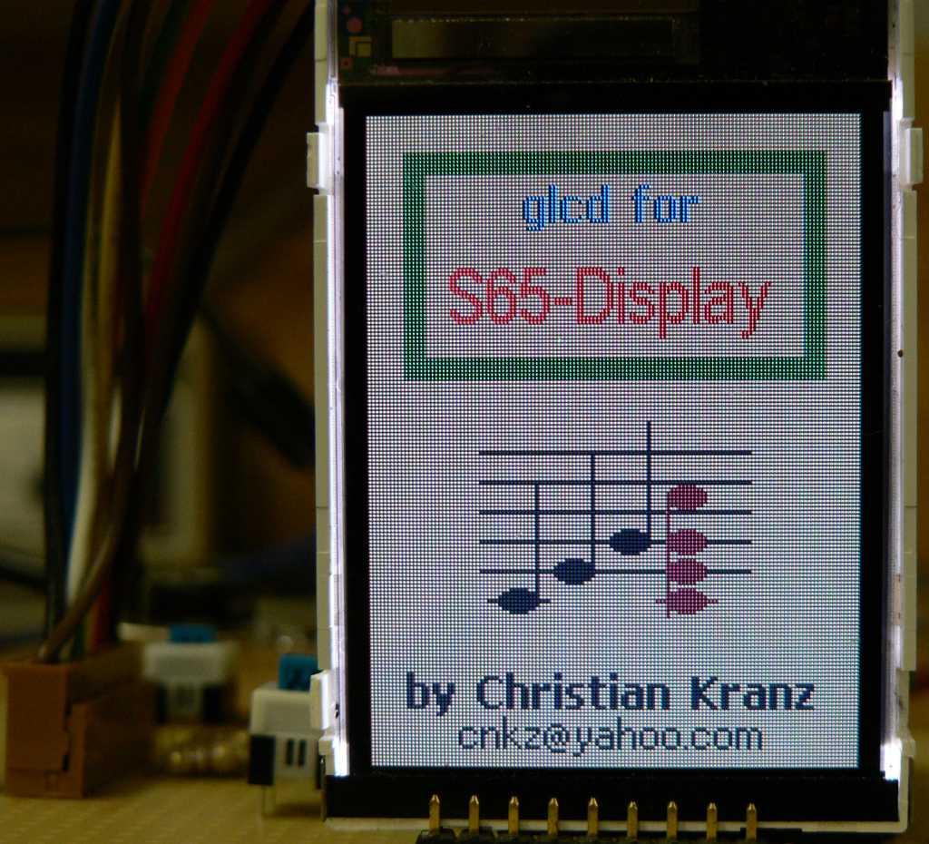 экран siemens s65 arduino вывод картинки